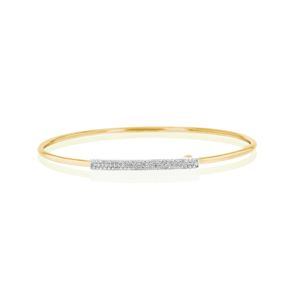 Phillips house yellow gold diamond wire strap bracelet