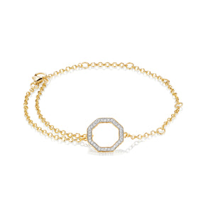 Phillips House yellow gold diamond hero chain bracelet