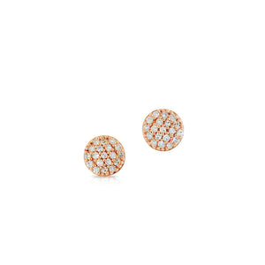Phillips house rose gold and diamond micro infinity stud earrings