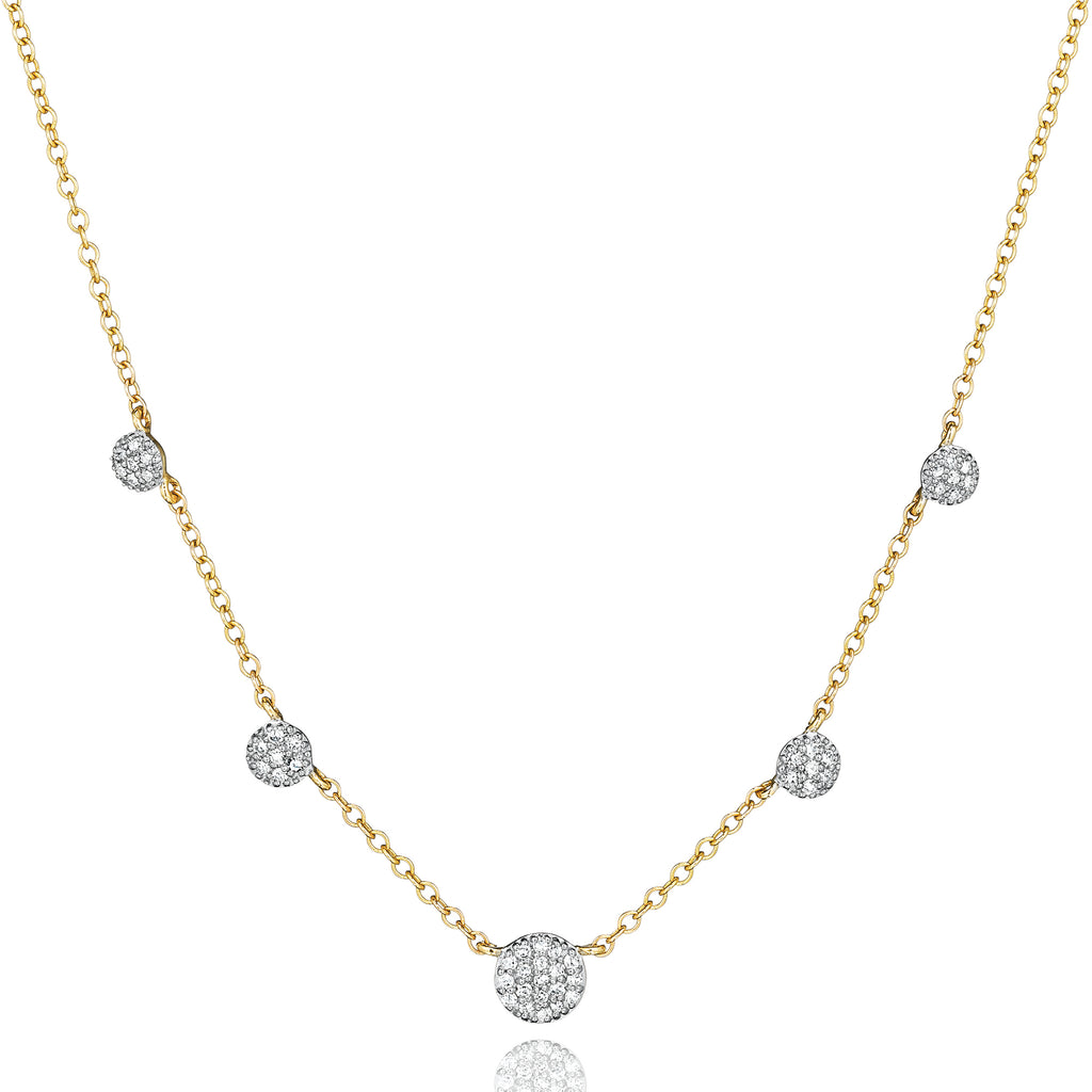 Phillips house diamond graduated station infinity necklace in 14kt yellow gold