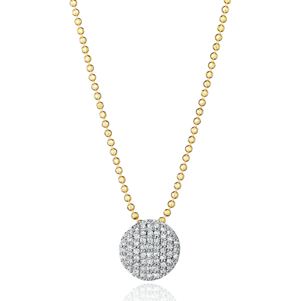 Phillips house affair collection diamond mini infinity necklace on 14kt yellow gold ball chain