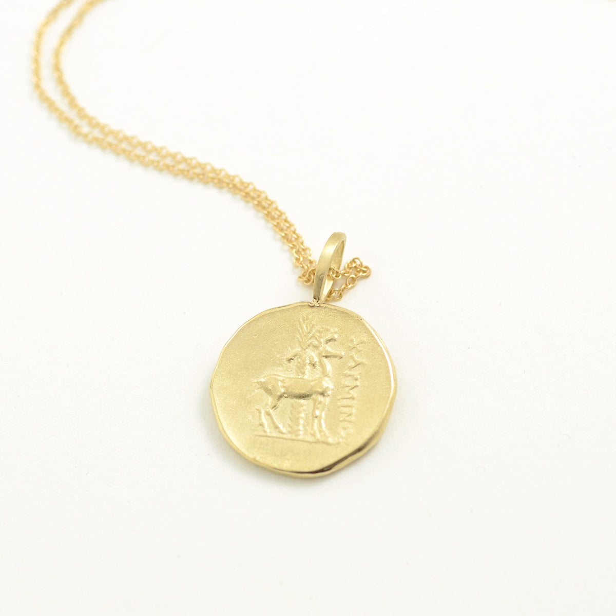 Robin Haley Antiquities Collection The Bee Necklace in 14kt yellow gold.