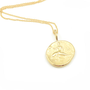 Robin Haley artifact collection the goddess of the sea necklace in 14kt yellow gold