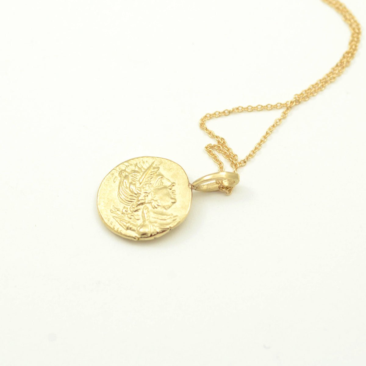 Robin Haley artifact collection the lion necklace in 14kt yellow gold