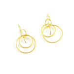 Rosanne Pugliese Earrings Medium Magnolia 22 Karat Yellow Gold French Wire