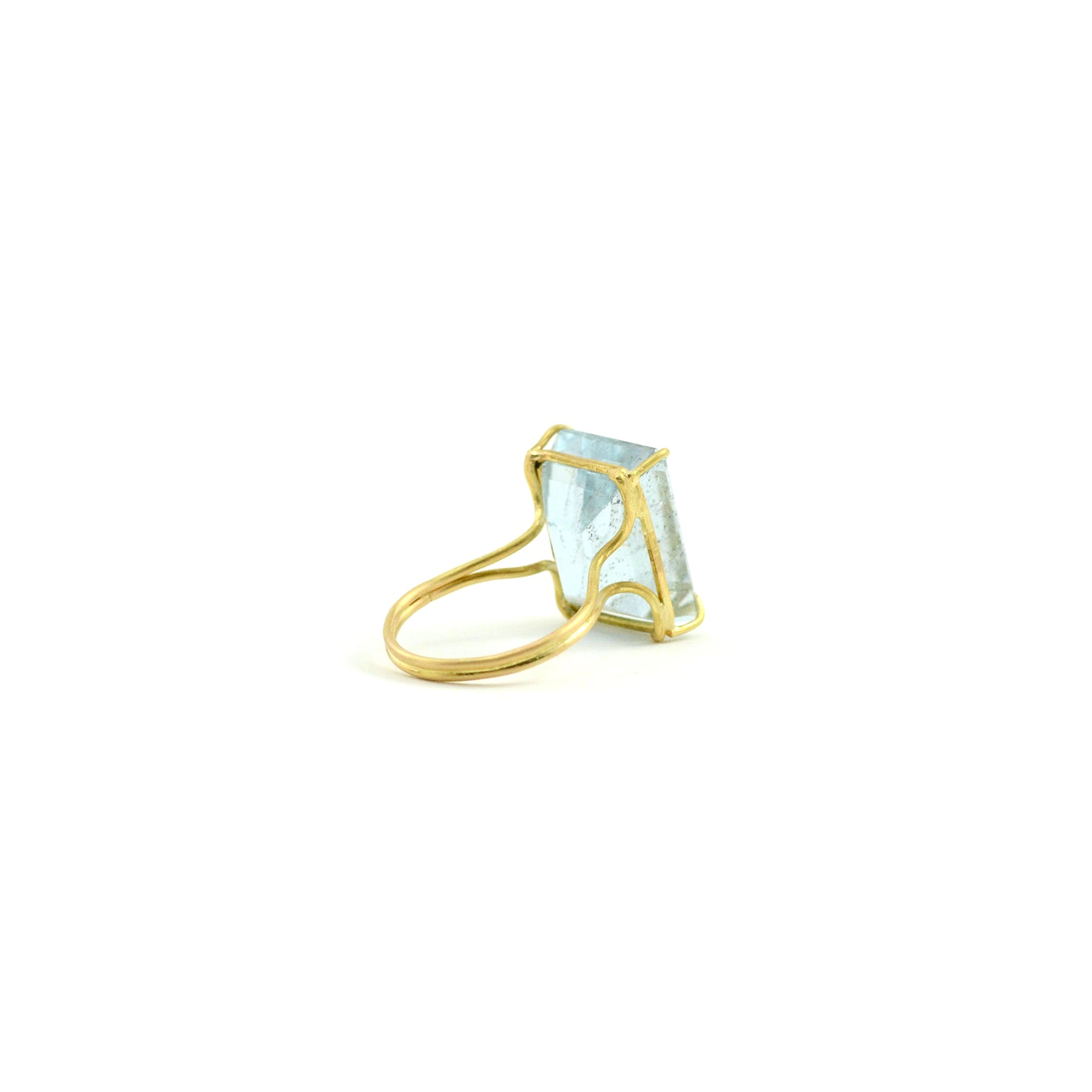 Emerald Cut Aquamarine Ring