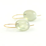 Moonstone on Minimalist Earwire Earrings