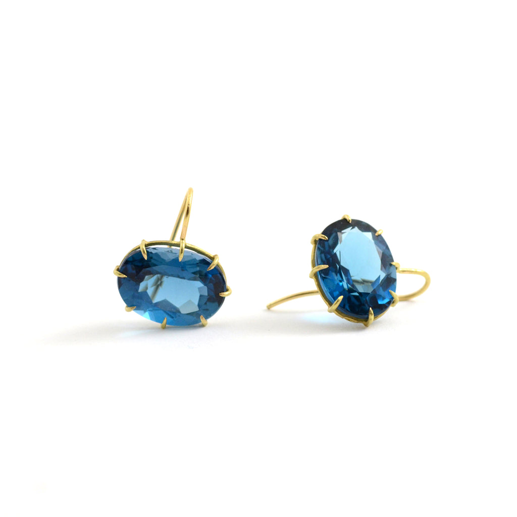 London Blue Topaz East/West Earrings