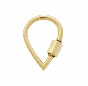 Marla Aaron Drop Lock 14 Karat Yellow Gold