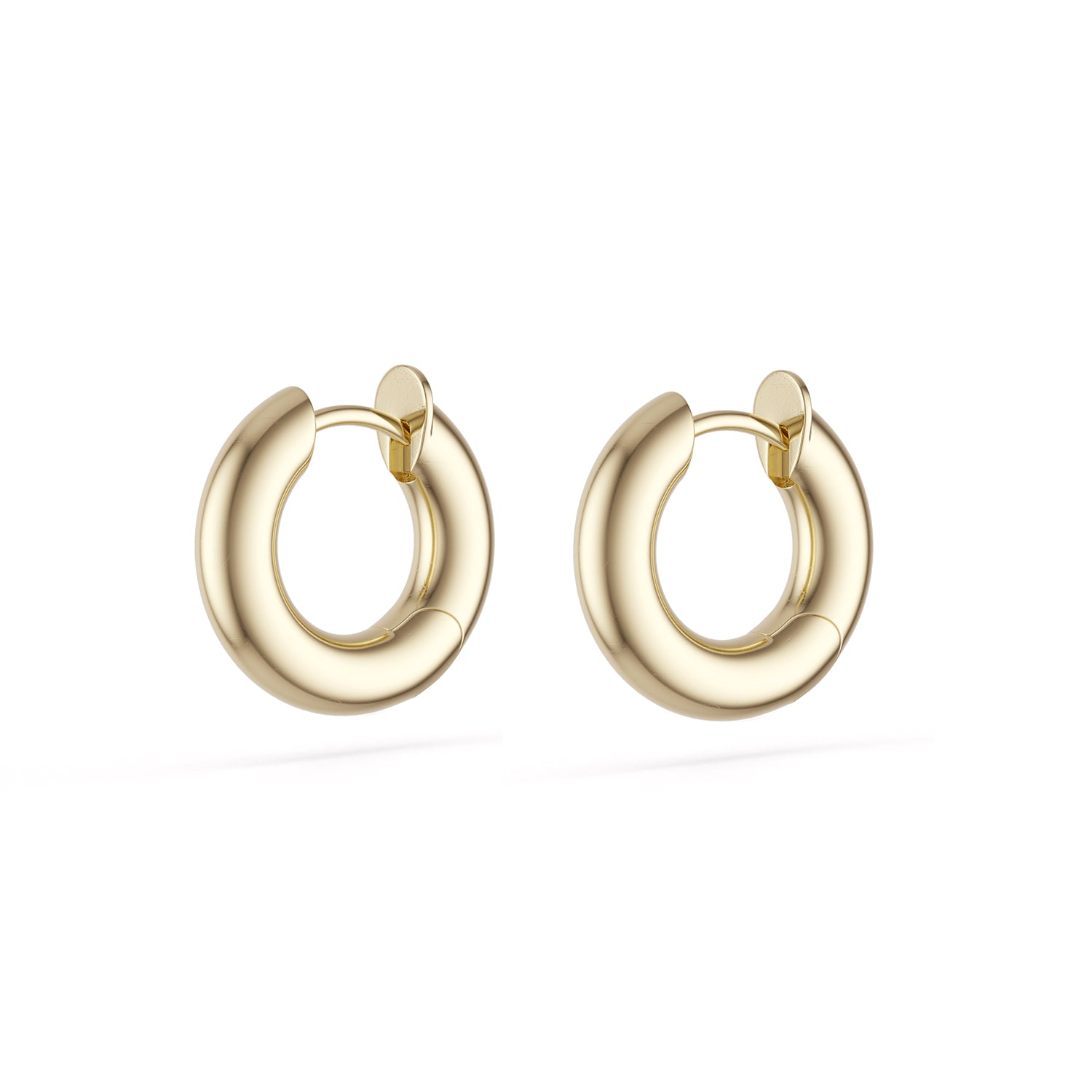 Spinelli Kilcollin Earrings Macro Hoops 18 Karat Yellow Gold Hinged Backs