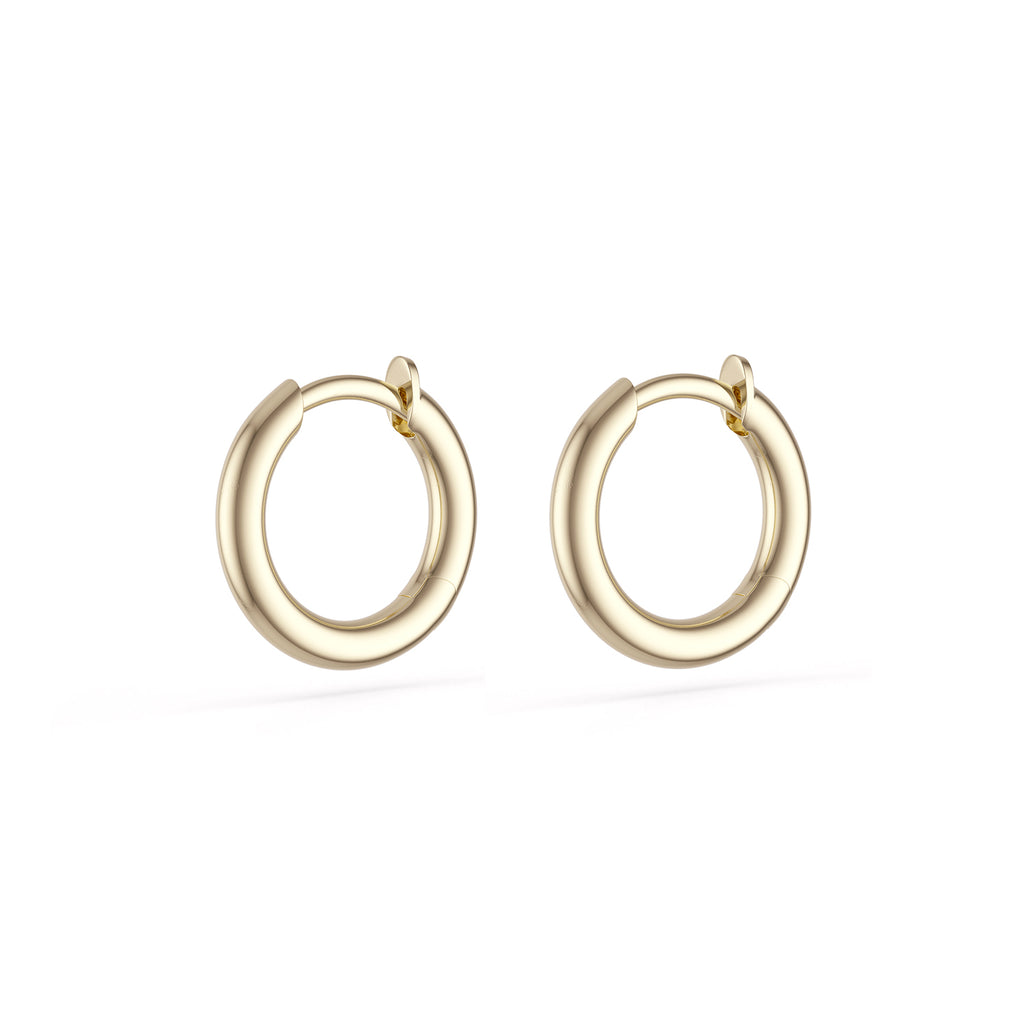 Spinelli Kilcollin Earrings Micro Hoops 18 Karat Yellow Gold Hinged Backs