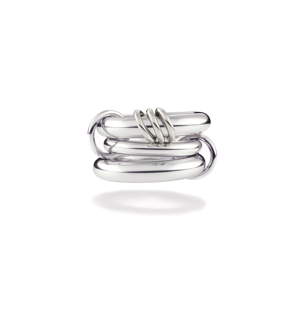 Spinelli Kilcollin Ring Hydra Sterling Silver Stacked 2 connectors 3 annulets