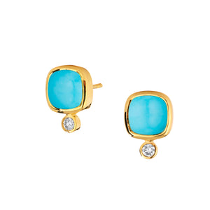 Sleeping Beauty Turquoise Sugar Loaf Earrings