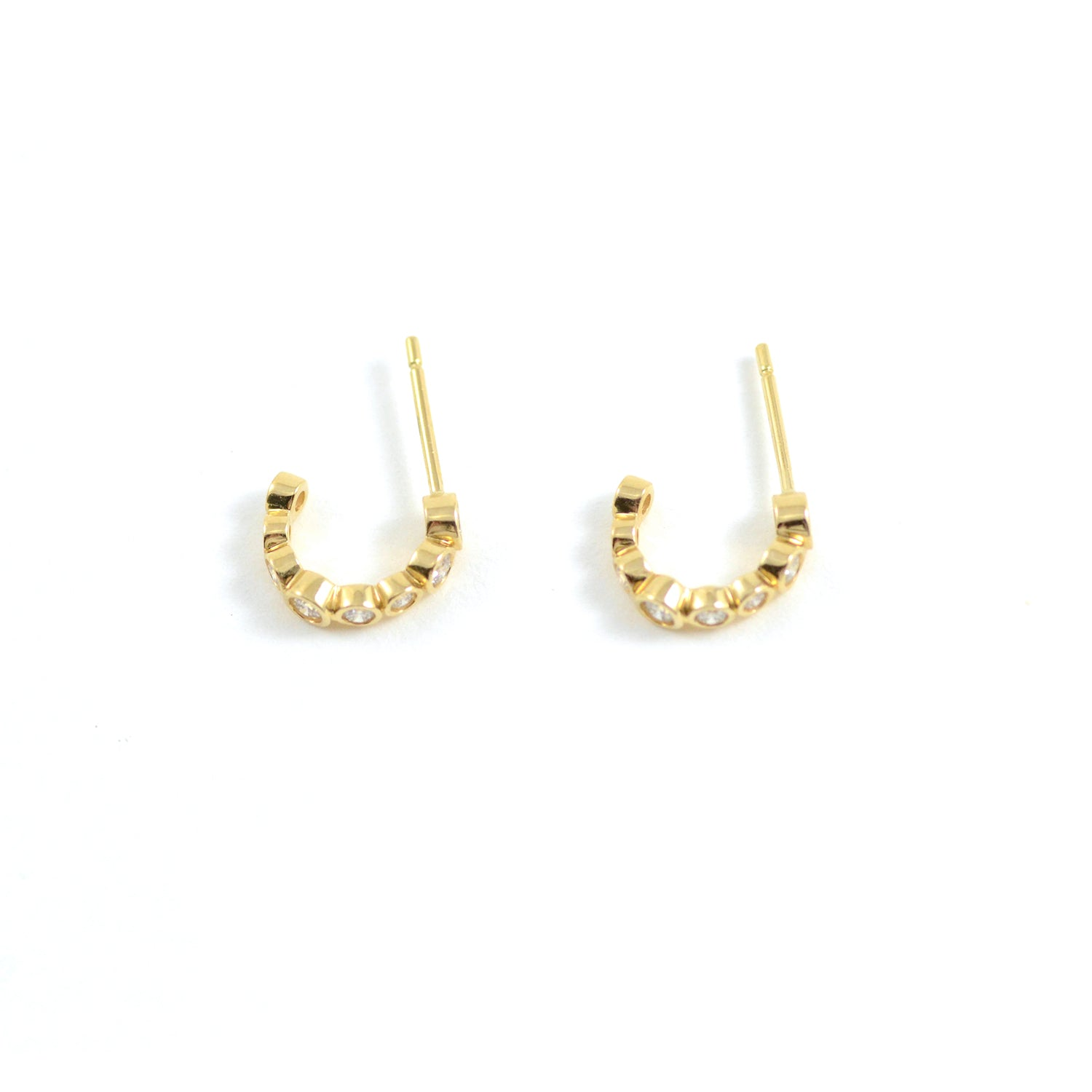 Bubbles Mini Hoop Earring in Yellow Gold