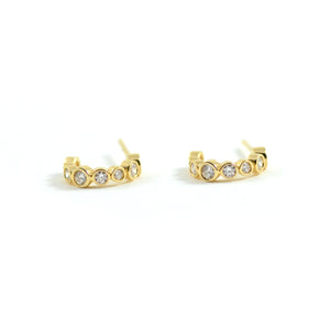 Syna Jewels Earrings Bubbles Hoops 18 Karat Yellow gold Champagne Diamonds