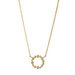 Champagne Diamond Chakra Necklace in Yellow Gold