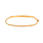 yossi harari lilah id bracelet in 18kt gold with white diamonds