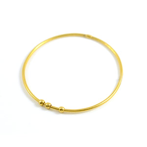 Yossi Harari Jane Bangle Bracelet 24 Karat Yellow Gold 3 Round Beads