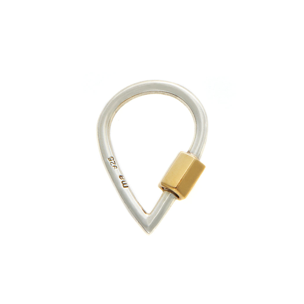 marla aaron drop lock with yellow gold closure