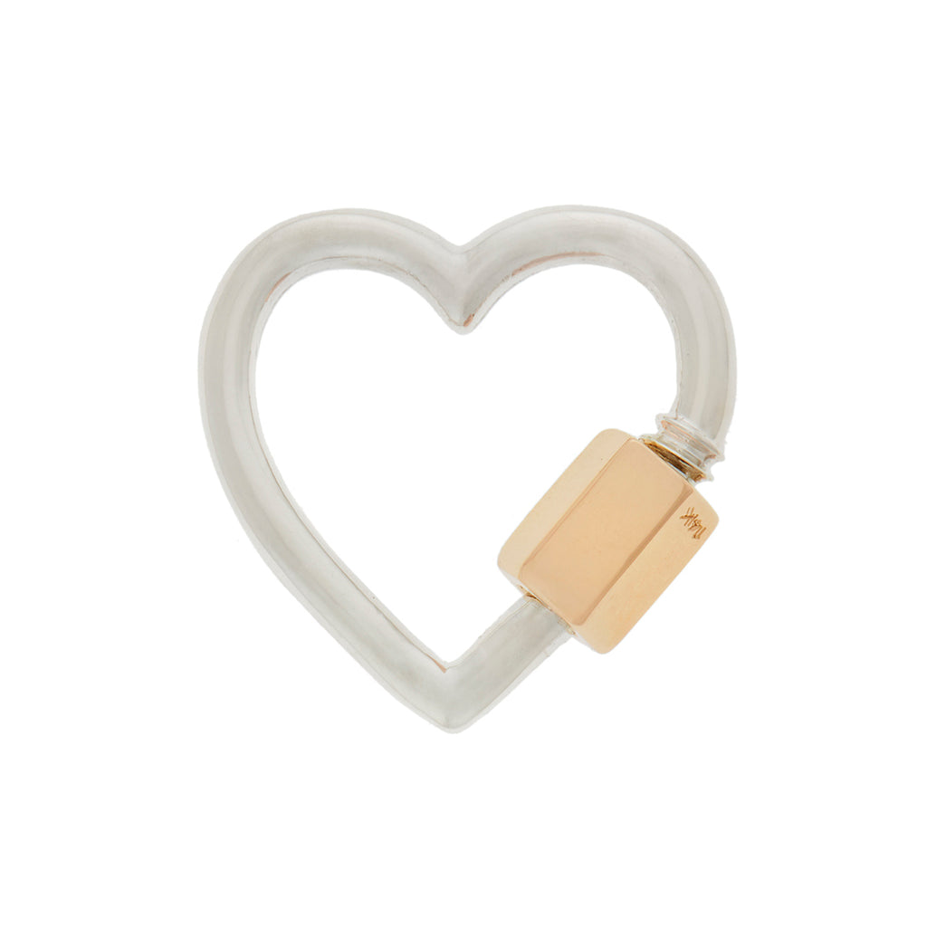 marla Aaron silver and 14kt yellow gold heartlock
