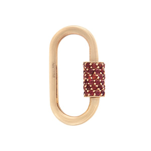 Marla Aaron lock. What is there to say. Lock on the 14 karat yellow gold lock with Red Songea Sapphires. Measures 3 cm x 1.5 cm with thickness of 4 mm, the closure of 6mm.