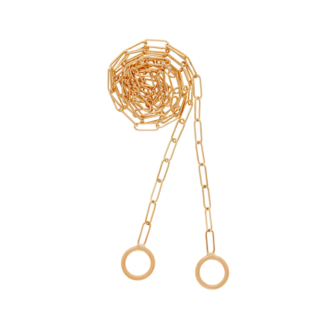 Marla Aaron Square Link Chain. Offered in yellow and rose gold and sterling silver. This chain works beautifully with our Babylock, Heartlock and Mediumlock. 14kt gold.