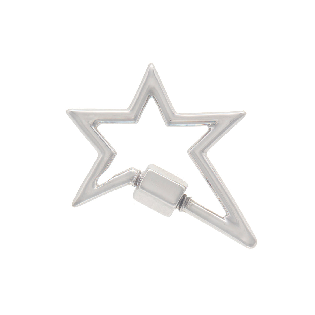 marla Aaron 14 karat white gold star lock