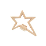 marla Aaron 14 karat yellow gold star lock
