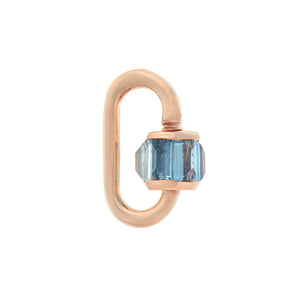 marla Aaron total baguette babylock with aquamarine, yellow gold