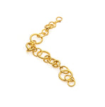 Gurhan hoopla bracelet in 24 karat gold.