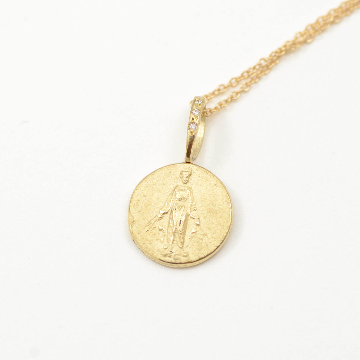 Robin Haley artifacts collection lady of the light pendant in 14kt yellow gold