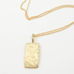 Robin Haley artifact collection madonna necklace in 14kt yellow gold