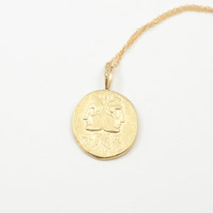 Robin Haley artifacts collection the present necklace in 14kt yellow gold