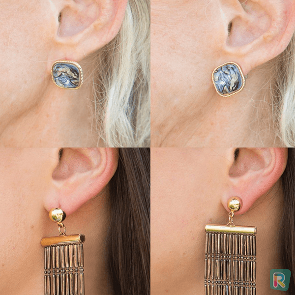 Hypoallergenic Earring Back Supports