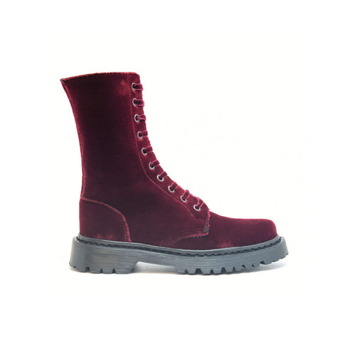 Velvet Bordeaux - Biker Boot