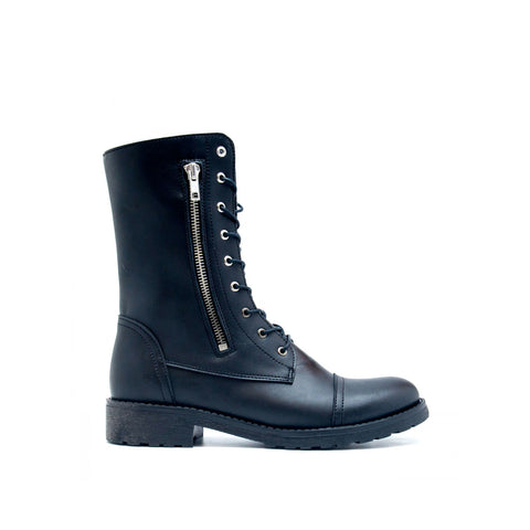 Zaira Black - Medium Barrel Boot