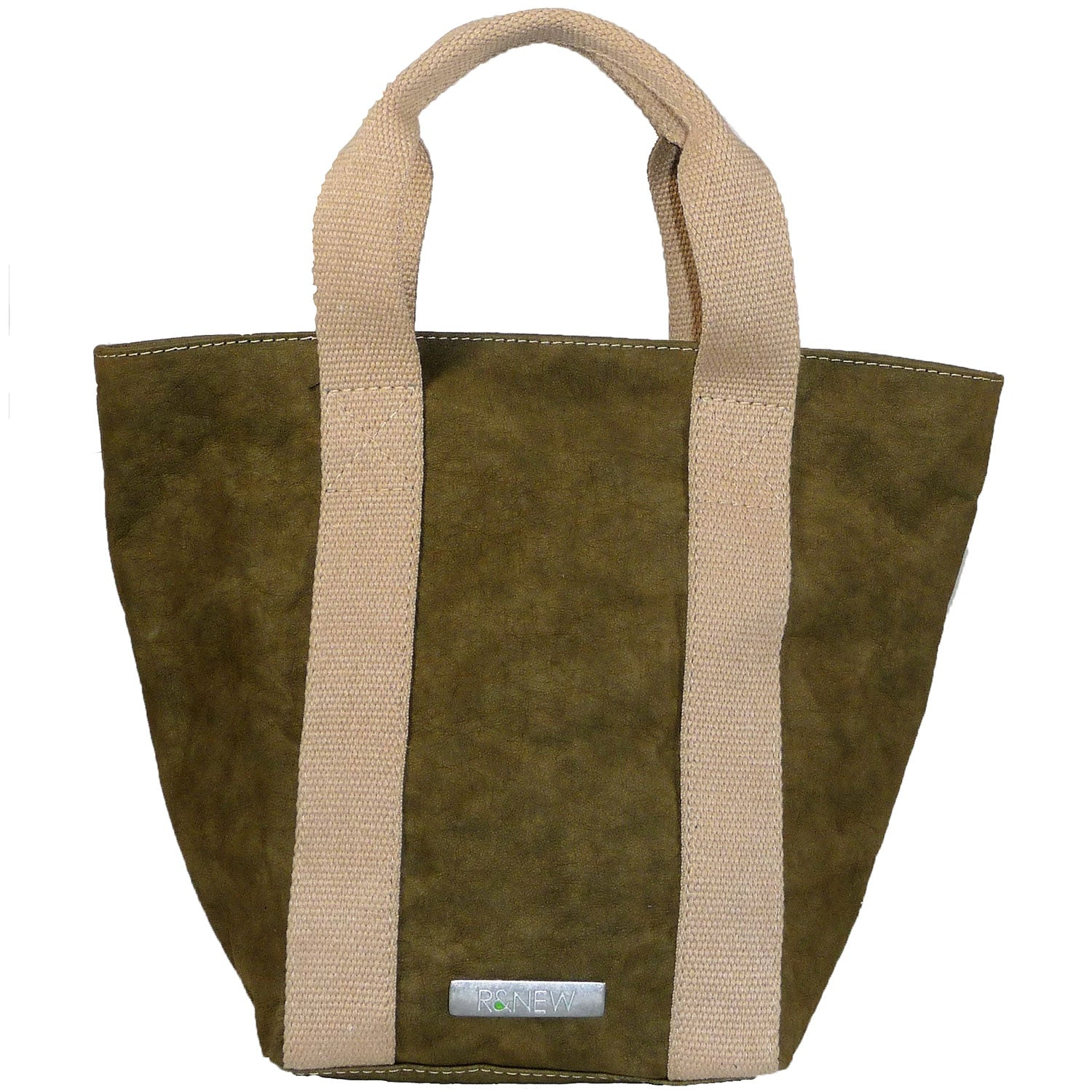 Borsa Shopping Carta small olive