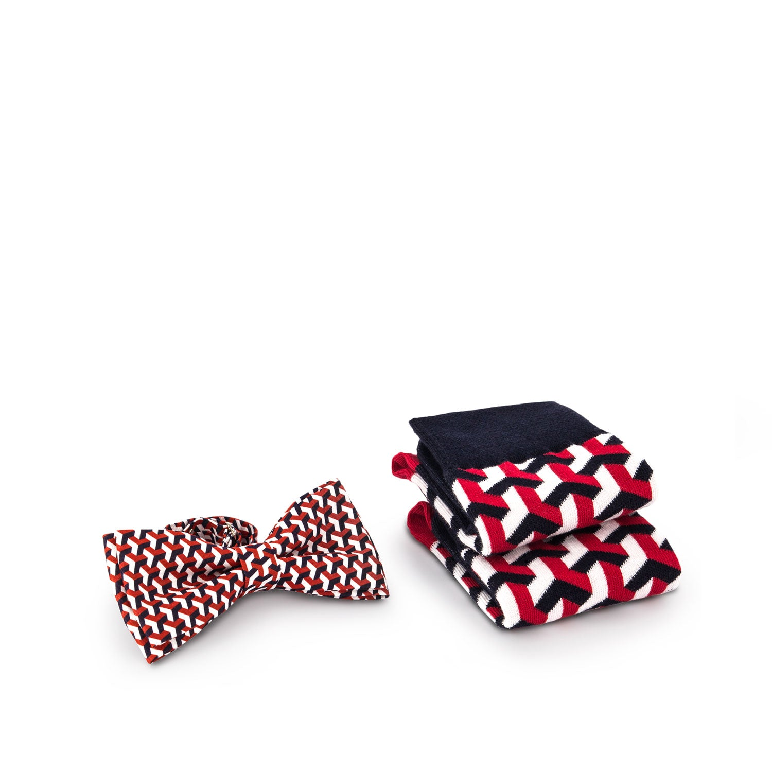 Socks and Bow Tie - 3D Pattern