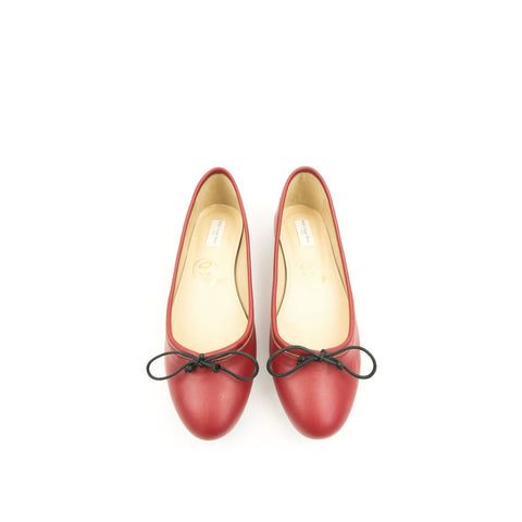 Ballerina Bow Tie Flats Red