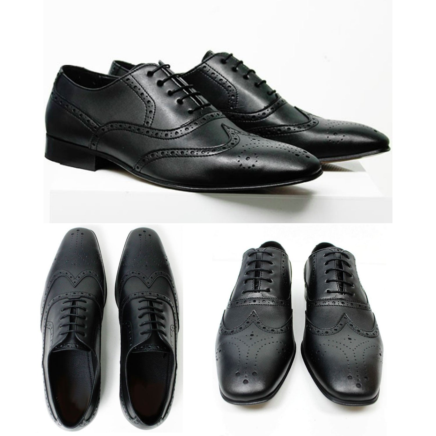 City Wingtip Brogue Oxfords
