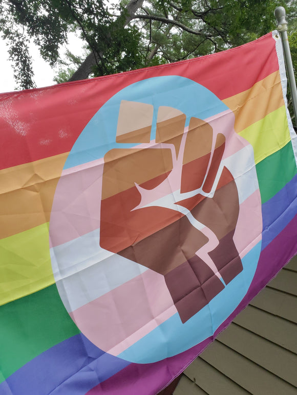 QUEER TRANS POC Community flag 3' x 5'