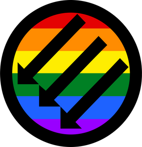"Rainbow ANTIFA. 3"" Sticker"
