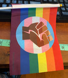 "QUEER PRIDE *Trans POC Community* Hand Flag 8.2"" x 5.5"""