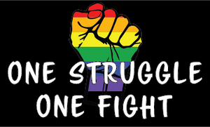 "One Struggle One Fight   Sticker 3""x5"""