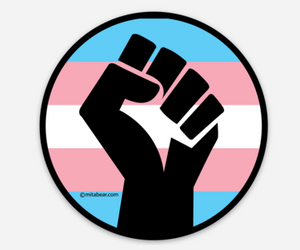 "BLACK TRANS LIVES MATTER . 3"" Sticker"