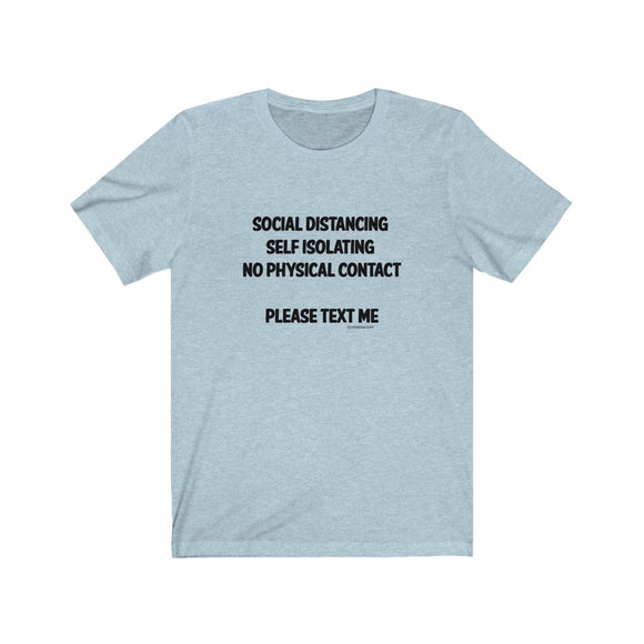 Social Distancing (Black  Lettering) Unisex Jersey Short Sleeve Tee