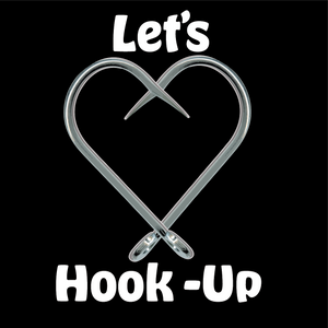 "Let's Hook Up   Sticker 3"" x 3"""