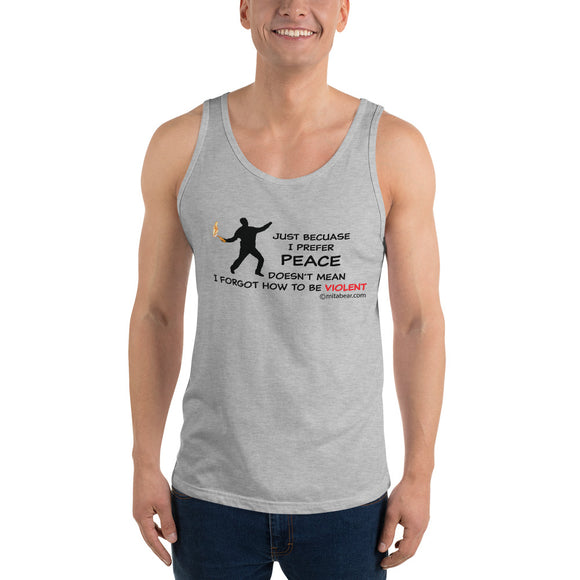 I prefer peace Unisex Tank Top