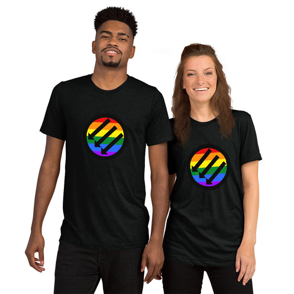 Rainbow ANTIFA Short sleeve t-shirt