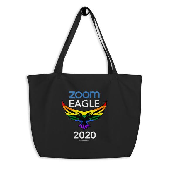 Zoom Eagle 2020. Large organic tote bag